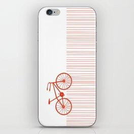 Red Bike by Friztin iPhone Skin