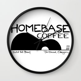 Homebase Coffee Wall Clock