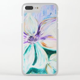 flowers are the stars Clear iPhone Case