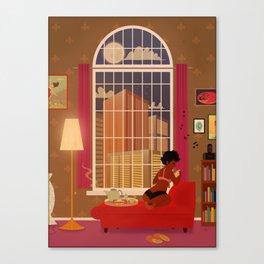 A quiet evening Canvas Print