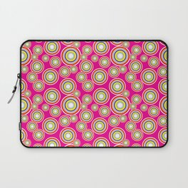 Circles on pink background Laptop Sleeve