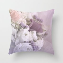 Romantic Flowers Throw Pillow