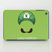 luigi iPad Cases featuring Luigi Vuitton by Sam Pea