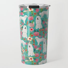 Great Pyrenees florals pattern dog breed must have dog lover gifts Travel Mug