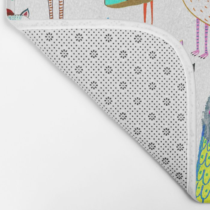 Owls. owl illustration, owl art, owl decor, pattern, art, design, animal, nature, kids, children, Bath Mat
