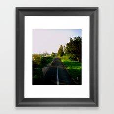 A long & narrow Road Framed Art Print