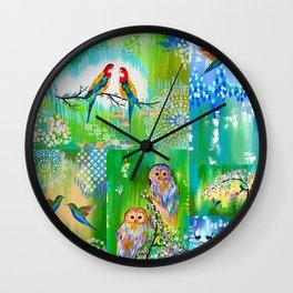 Green designs Wall Clock