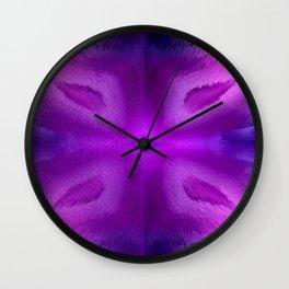 Agate Dreams in purple Wall Clock