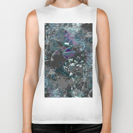 Forest first frost floral camouflage Biker Tank