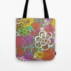 Dancing Flowers Tote Bag