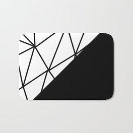 ART DECO PATTERN (BLACK-WHITE) Bath Mat