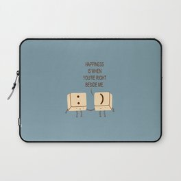 Happy Smile Keyboard Buttons Laptop Sleeve