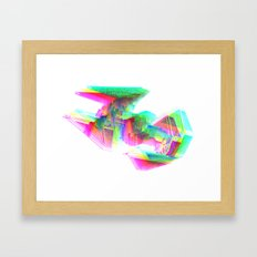 TIE Interceptor Star Glitch Wars Framed Art Print
