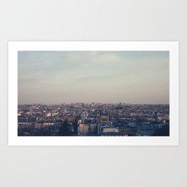 Parisian Rooftop Vista Art Print