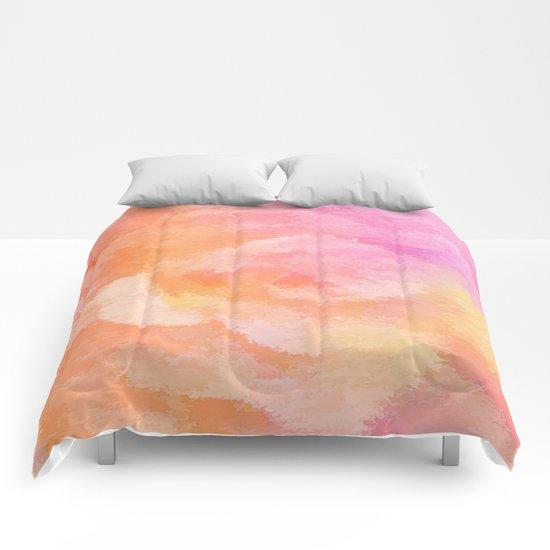 Soft Pastel Floral Blend Comforters