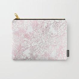 Elegant floral rose gold strokes doodles design Carry-All Pouch