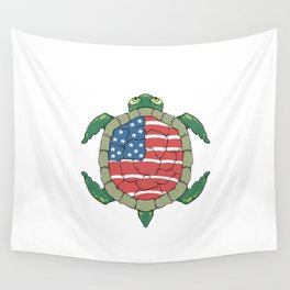 Like a turtle - Strong & Free Wall Tapestry