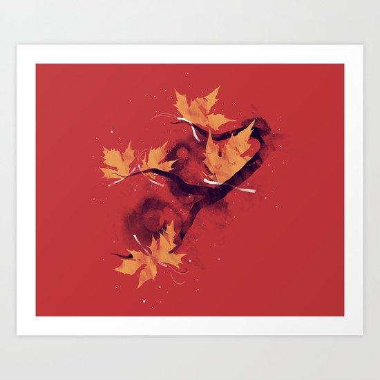 Autumn's Butterflies Art Print