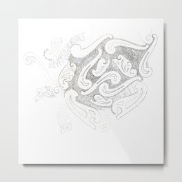 Paisley Handwriting Lyrics Metal Print