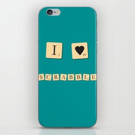 I heart Scrabble iPhone Skin