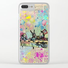 Tea Party Celebration - Alice In Wonderland Clear iPhone Case