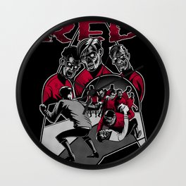 The Walking Red Wall Clock