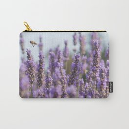 Lavender Bee Carry-All Pouch