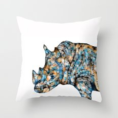 Rhino-no text Throw Pillow