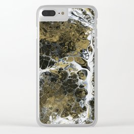 Team Splash, Black and Gold Clear iPhone Case