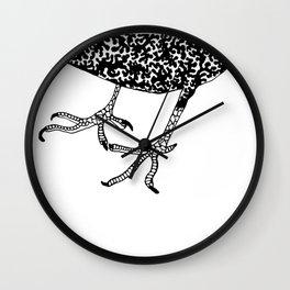 Crooked Feet  - Bird Anatomy  Wall Clock
