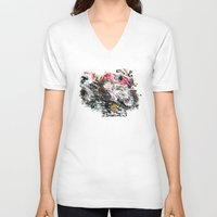 motorcycle V-neck T-shirts featuring Motorcycle by ron ashkenazi