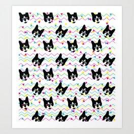 CMYK Cat Pattern Art Print