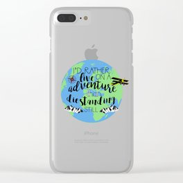 A Darker Shade of Magic Quote Clear iPhone Case