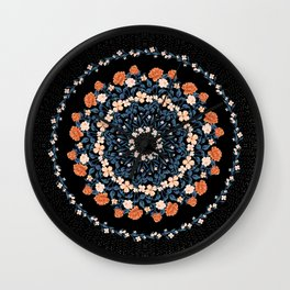 Starry Floral Medallion Wall Clock