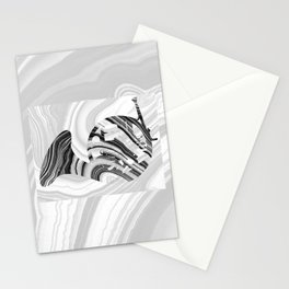 Marbled Music Art - French Horn - Sharon Cummings Stationery Cards