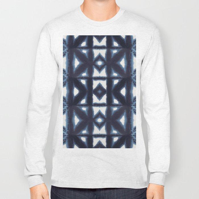 Blue Pima Shibori Long Sleeve T-shirt