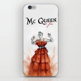 Mc Queen on fire iPhone Skin
