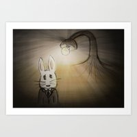 Bunny Land Art Print