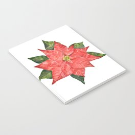 Christmas pointsettia Notebook