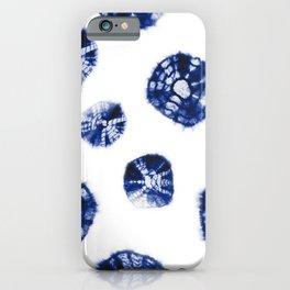 Shibori Kumo blue & white iPhone Case