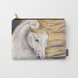 Andalusian Dapple Horse Watercolor Carry-All Pouch