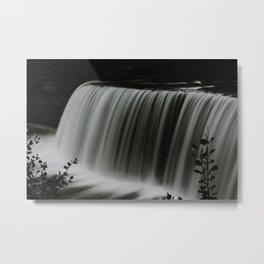 Tahquamenon Falls (Black and White) Metal Print