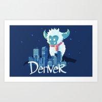 denver Art Prints featuring Denver by queeneyesore