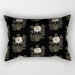 Mysterious Medieval Flower Pattern Rectangular Pillow
