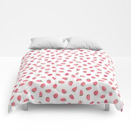 Strawberry Patch Watercolor Pattern Comforters