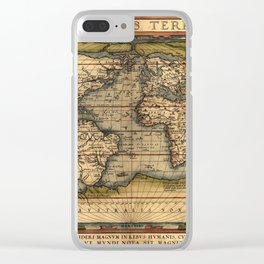 World Map 1570 Clear iPhone Case