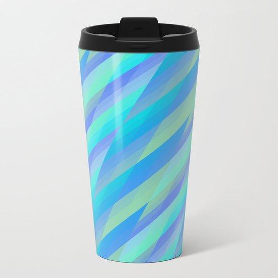 Harmony, geometric patterns abstract in pastels Metal Travel Mug