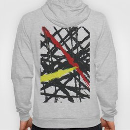 Abstract Red, Black and Yellow Hoody