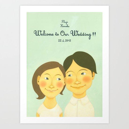 S&K Happy Wedding !! Art Print