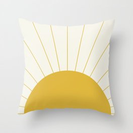 Sunrise / Sunset Minimalism Throw Pillow